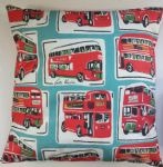 "Cushion Cover in Cath Kidston Large London Bus 14"" 16"" 18"" 20"""